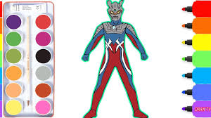 how to draw ultraman zero drawing for kids ultraman coloring pages