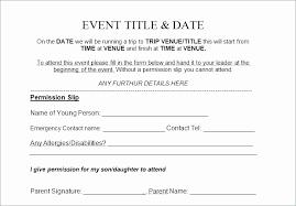 Child Travel Consent Form Template New Parent Permission Form