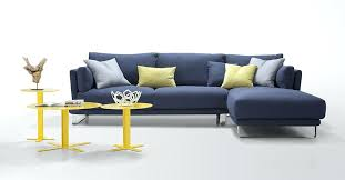 navy blue sectional sofa. Navy Blue Sectional Leather Stylish Sofa With Modern Dark Fabric