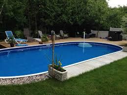 semi inground pools canada round designs
