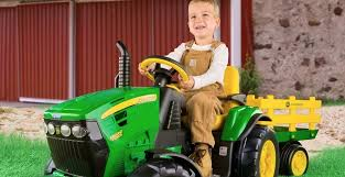 farm fun with the peg perego john deere ground force kids electric tractor trailer july 31 2019