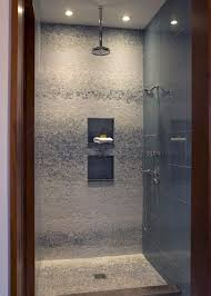 Dainty Interior Shower Design Ideas with Genteel Floors also Walls  Decoration plus Lamps