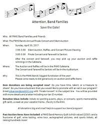 Save The Date Finale Concert Donations Needed Pnhs Bands