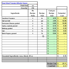 Free Recipe Costing Spreadsheet How To Make A Spreadsheet