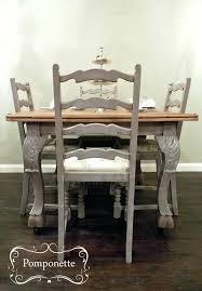 Chalk Paint Kitchen Table Shabby Chic Farmhouse Table With Chalk