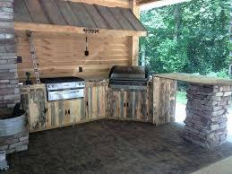 rustic outdoor kitchen