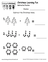 Christmas Subtraction Worksheet - Free Kindergarten Holiday ...Kindergarten Christmas Subtraction Worksheet Printable