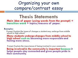 Essay Of Comparison And Contrast Examples Compare And Contrast Essay Examples High School Comparison