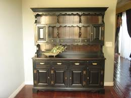 kitchen design captivating black kitchen buffets featuring accented hutch with shiplap backboard and bottom wooden