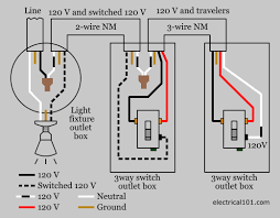 3 way switch wiring electrical 101 Wiring Diagram For Multiple Outlets 3 way light switch wiring diagram 2 wiring diagram for multiple gfci outlets