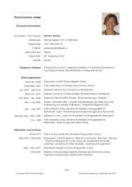 Resume Template Outstanding Pdf Curriculum Vitae Download Sample ...