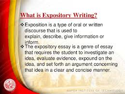 expository writing what is expository writing