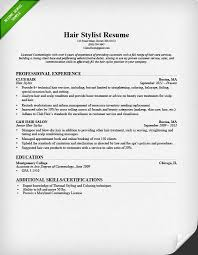 hairstylist resume sample