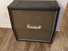 1976 Vintage Marshall 1960a 1982a EMPTY 4x12 Cabinet cab amp | Reverb