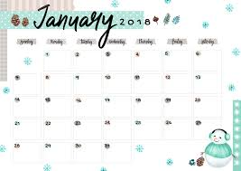 january 2018 calendar free january 2018 printable colorful calendar free download seven photo