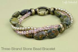 supplies needed to make your own three strand diy bead bracelet