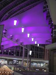 galleria mall newly renovated food court lighting