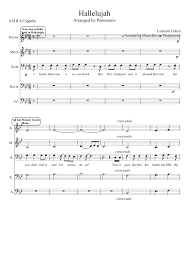 hallelujah piano sheet music hallelujah pentatonix a cappella sheet music for voice musescore
