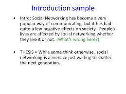 social networking essay feedback ppt video online  3 introduction sample intro social networking