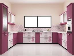 Purple Cabinet Ideas With White Kitchen Wall Color For Elegant