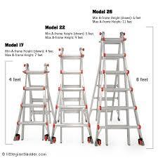 Ladder Height Chart Garage Door Opener Chain Adjustment Ladder Height Chart