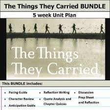 best the things they carried ideas us the things they carried by tim o brien see more 5 weeks of lesson plans includes pacing guide film essay activities chapter