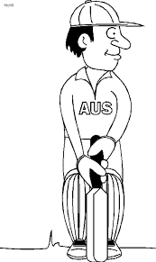 Cricket Sport Coloring Pages Getcoloringpagescom