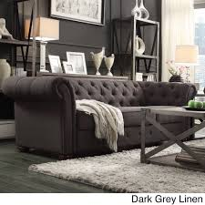 Knightsbridge Tufted Scroll Arm Chesterfield Sofa by iNSPIRE Q ... Add  graceful seating to you home with this Chesterfield sofa by TRIBECCA HOME.