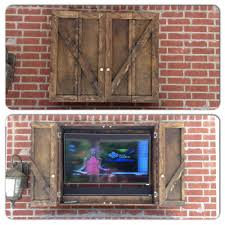 Kitchen Tvs Our New Custom Outdoor Tv Cabinet Outdoor Ideas For The Home