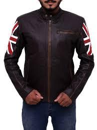 uk flag vintage motorcycle jacket men uk flag motorcycle leather jacket