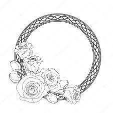 Ornament Met Keltische Motief En Rozen Anti Stressprogramma