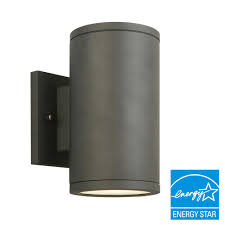 home decorators collection black led outdoor wall lantern with frosted glass