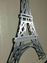 eiffel tower metal wall art