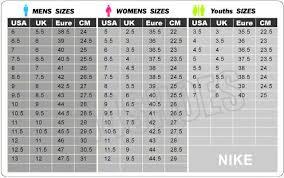 Nike Com Shoe Size Chart Nike Size Chart India Www Bedowntowndaytona Com