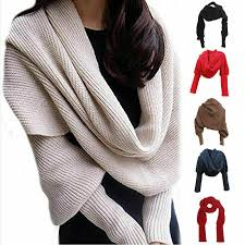 <b>New</b>!!! <b>Novelty Unisex</b> Women Knitted Scarf With Sleeves Long For ...