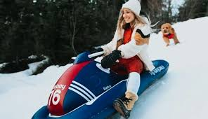 these inflatable snow sleds make winter