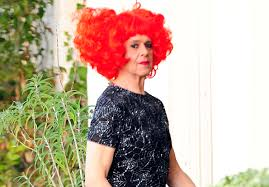 richard simmons woman. richard simmons out in beverly hills, ca woman m