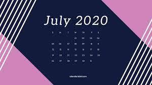 July 2020 Calendar Wallpapers ...