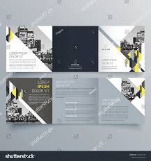 Mini Brochure Design Brochure Design Brochure Template Creative Trifold Stock Vector
