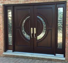 front doors with side lightsCrescent Mahogany Double Front Entry Doors with Sidelights