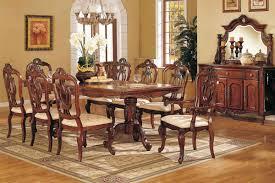 Formal Dining Room Sets Dark Brown Varnish Long Wooden Dining - Formal oval dining room sets