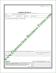 Construction Change Order Form Stunning Contractors Construction Change Order Forms
