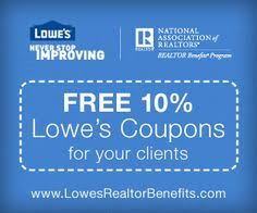 Image result for NAR Lowes client discount card