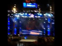 Wwe Smackdown Intro In Providence Ri At The Dunkin Donuts