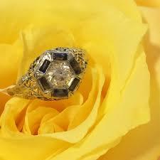 Jewelry By Designs Woodbridge Va Art Deco 1 3 Carat Diamond And Sapphire Engagement Ring Was