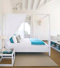 beach house bedroom furniture. white turquoise bedroom canopy bed beach house furniture o