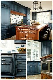 Benjamin Moore Mozart Blue With Black Glaze Done By Heidi Piron