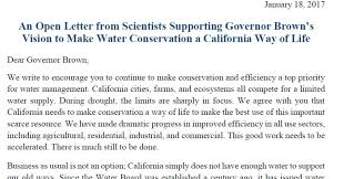 "an open letter from scientists to governor jerry brown ""make  an open letter from scientists to governor jerry brown ""make water conservation a california way of life"" huffpost"