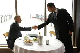 how to handle a job interview in a restaurant businessmen w having lunch in restaurant