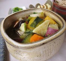 vegetarian anese vegetable stew with miso broth